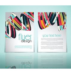 abstract flyer design 2502 vector image vector image