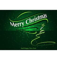 Abstract green christmas greeting vector