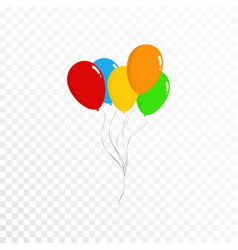 balloons collection bunch of colorful balloons vector image vector image