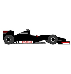 black racing car vector image vector image