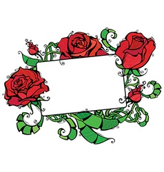 Blank tablet with roses vector image