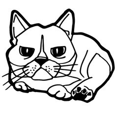 Cat and kitten Coloring Page vector image