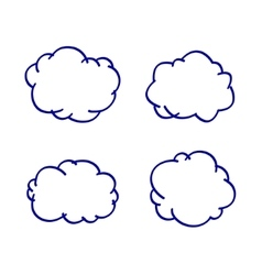 cloud hand-drawn vector image