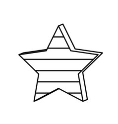 Figure star with stripes independece day icon vector