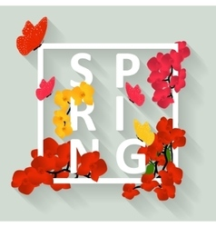 Floral colorful spring background graphic design vector