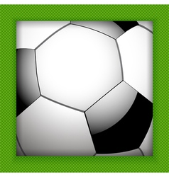 football close up background vector image vector image