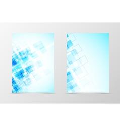 Front and back digital flyer template design vector image vector image