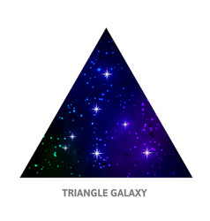 galaxy triangle background with stars vector image vector image