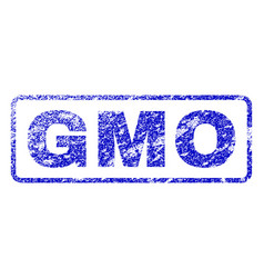 Gmo rubber stamp vector