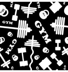 Gym seamless pattern vector