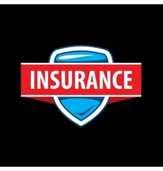 Logo template for an insurance company vector