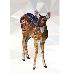 Low poly geometric of deer vector image