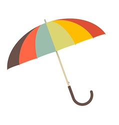 Retro Paper Umbrella - Parasol vector image vector image
