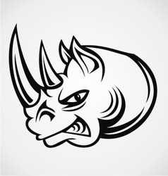 Rhinos Head Tribal vector image