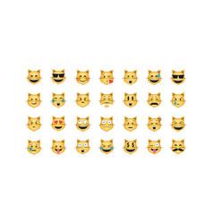 Set of cat emoticon vector