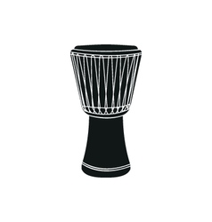 Djembe on white background vector