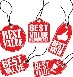 Best value red tag set vector