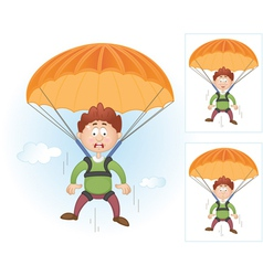 Parachutists collection vector