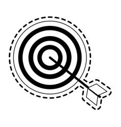 Bullseye or target icon image vector