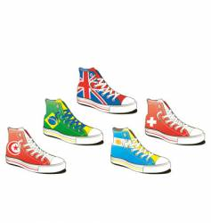 Shoe with flag vector