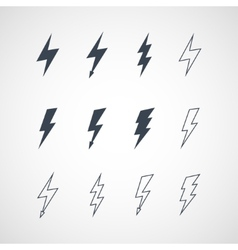 lightning icon set vector image