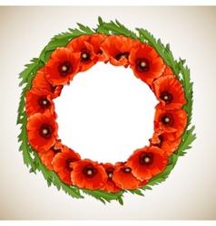 Wreath of Poppies vector image