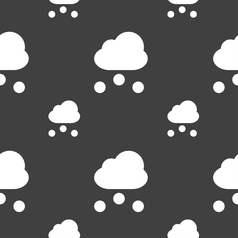 Snowing icon sign seamless pattern on a gray vector