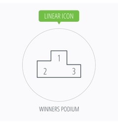 Winners podium icon prize ceremony pedestal vector