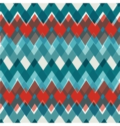 Seamless chevron pattern fashion zigzag in vector