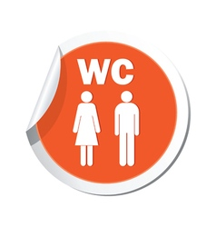Map pointer with man and woman icon vector image
