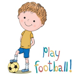 Boy and football vector