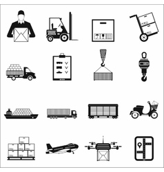 Logistics simple icons vector