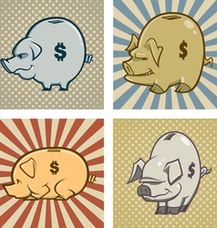 Piggy bank s vector