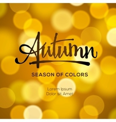 Abstract autumn defocused gold background vector image vector image