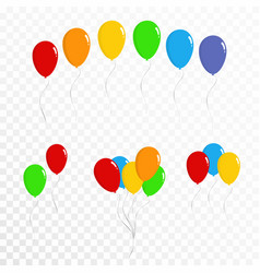 balloons collection set of colorful balloons vector image