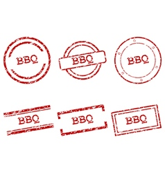 BBQ stamps vector image vector image