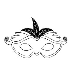 Carnival mask with feathers vector