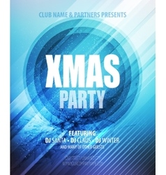 Christmas night party poster or flyer vector image vector image