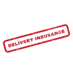 Delivery insurance text rubber stamp vector