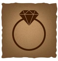 Diamond sign vintage effect vector