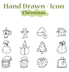 Hand draw of christmas theme icons vector