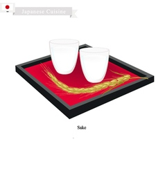 Japanese traditional rice wine vector