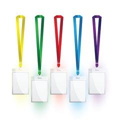 lanyard colour set vector image