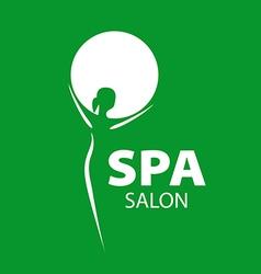 Logo girl and a circle for the spa salon vector