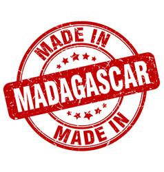 Made in madagascar red grunge round stamp vector