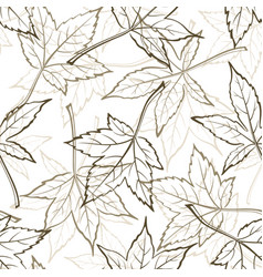maple leaves seamles vector image vector image