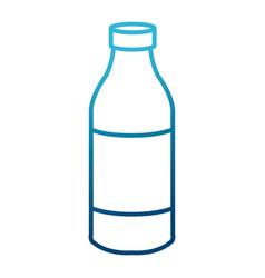 Orange juice in bottle vector