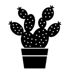 Prickly pear icon simple style vector