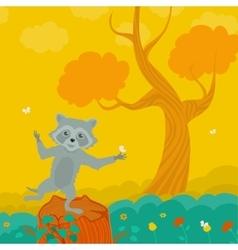 Raccoon in Woods vector image vector image