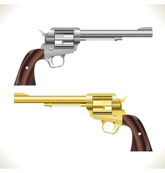 Revolver gun vector